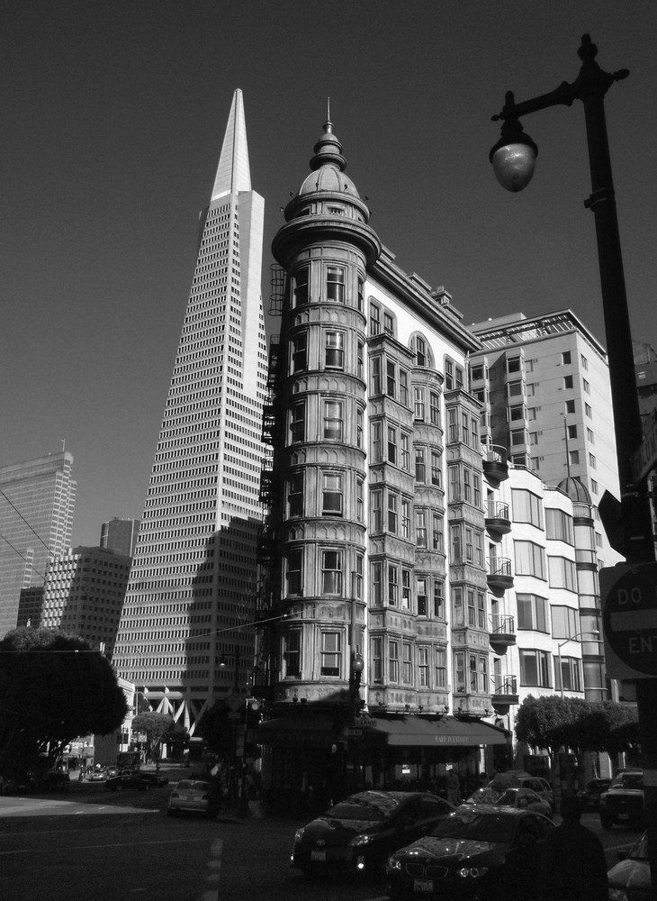 Sentinel Tower and Transamerica Building